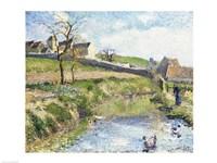The Farm at Osny, 1883 Fine Art Print
