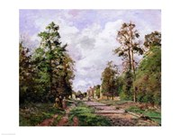 The road to Louveciennes at the edge of the wood, 1871 Fine Art Print