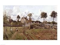 Pontoise Landscape, c.1872 Fine Art Print