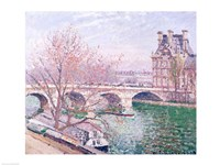 The Pont-Royal and the Pavillon de Flore, 1903 Fine Art Print