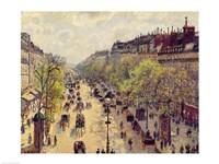 Boulevard Montmartre, Spring, 1897 Fine Art Print