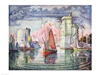 The Port at La Rochelle, 1921 Fine Art Print
