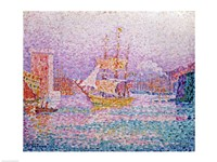 Harbour at Marseilles, c.1906 Fine Art Print