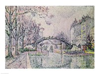 The Canal Saint-Martin, 1933 Fine Art Print