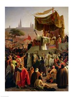 St. Bernard Preaching the Second Crusade in Vezelay Fine Art Print