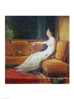 Empress Josephine - yellow couch Fine Art Print
