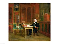 Louis XVIII in his Study at the Tuileries Fine Art Print