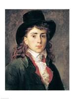 Portrait of Baron Antoine Jean Gros Fine Art Print