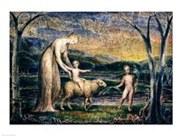 Our Lady with the Infant Jesus Riding on a Lamb with St John Fine Art Print