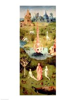 The Garden of Earthly Delights: The Garden of Eden Fine Art Print