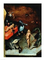 The Last Judgement (Altarpiece): Detail of Musical Instruments Fine Art Print