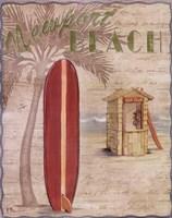 Surf City I Framed Print