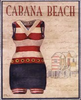 Cabana Beach - mini Fine Art Print