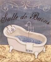 Parisian Bath I - petite Framed Print
