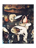 The Garden of Earthly Delights: Hell, right wing of triptych, c.1500 Fine Art Print