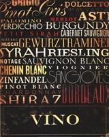 Vino Type Fine Art Print