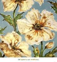Blue Floral I Framed Print