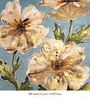Blue Floral II Fine Art Print