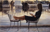 Reading on the Dock Fine Art Print