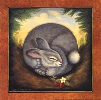 Sleepy Bunny Fine Art Print