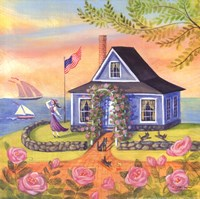 Seafarer Cottage Fine Art Print