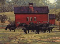 By the Red Barn Fine Art Print