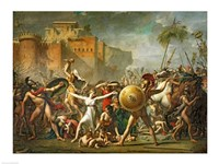 The Sabine Women, 1799 Framed Print