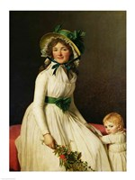 Madame Pierre Seriziat with her Son Fine Art Print
