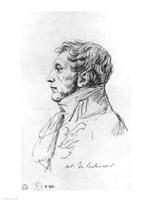 Portrait of Armand Augustin Louis. Marquis de Caulaincourt Fine Art Print