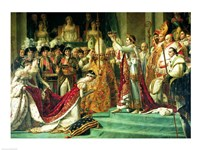 The Consecration of the Emperor Napoleon and the Coronation of the Empress Josephine Framed Print
