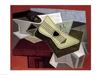 Guitar and Newspaper, 1925 Fine Art Print