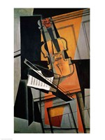The Violin, 1916 Framed Print