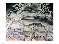 Illustrations of the Book of Job; Job's Evil Dreams Fine Art Print