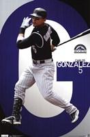 Rockies - C Gonzalez 11 Wall Poster
