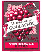 Vin Rouge Red Grapes Fine Art Print