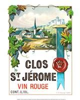 Clos St Jerome Vin Rouge Fine Art Print