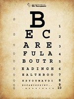 Mark Twain Eye Chart Framed Print
