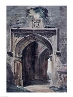 East Bergholt Church: South Archway of the Ruined Tower, 1806 Fine Art Print