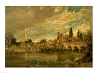 The Bridge of Harnham and Salisbury Cathedral Fine Art Print