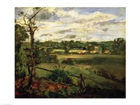 View of Highgate from Hampstead Heath, c.1834 Fine Art Print
