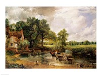 The Hay Wain, 1821 Framed Print