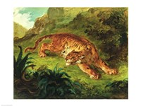 Tiger and Snake, 1858 Fine Art Print