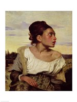 Young Orphan in the Cemetery, 1824 Fine Art Print