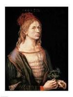 Self Portrait with a Thistle, 1493 Fine Art Print
