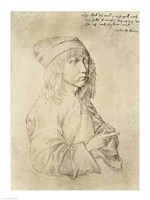 Self portrait at the age of thirteen, 1484 Fine Art Print