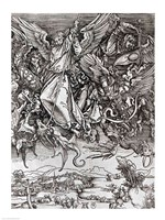 St. Michael and the Dragon, from a Latin edition, 1511 Fine Art Print