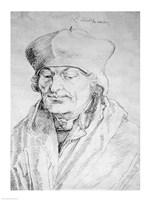 Portrait of Desiderius Erasmus Fine Art Print