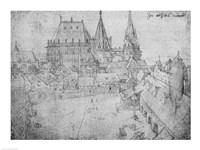 The Minster at Aachen, 1520 Fine Art Print