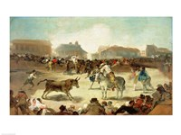 A Village Bullfight Fine Art Print