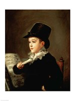 Portrait of Marianito Goya, Grandson of the Artist, c.1815 Fine Art Print